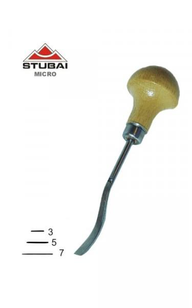 Stubai Micro Schnitzeisen Stich 1 - kurzgekröpfte Form
