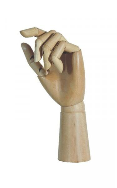 Holzgliederhand - links