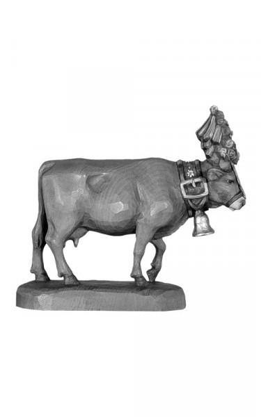 Kuh aufgebuscht - Kopf gesenkt