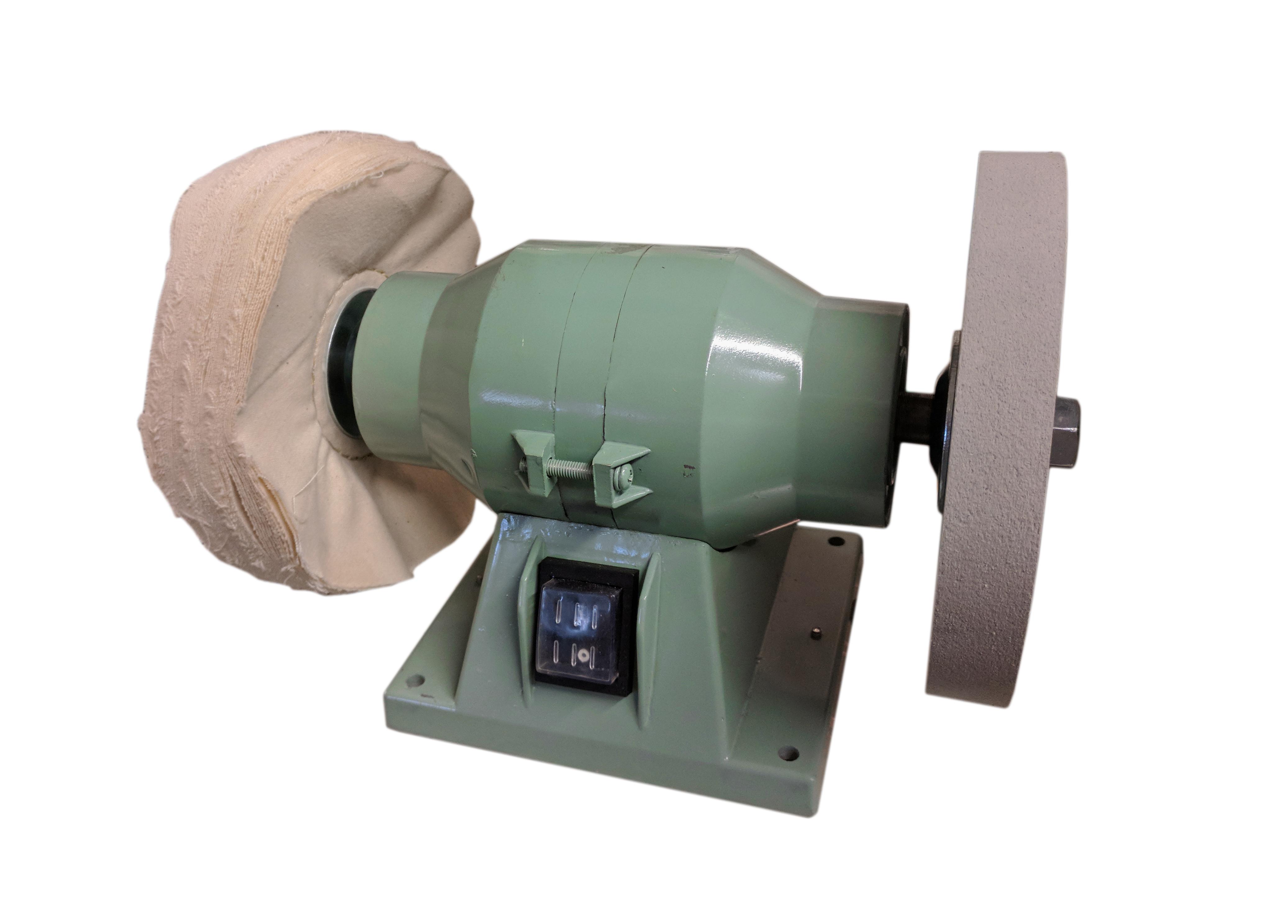 abzieh- und polierschleifmaschine mit gummischeibe und