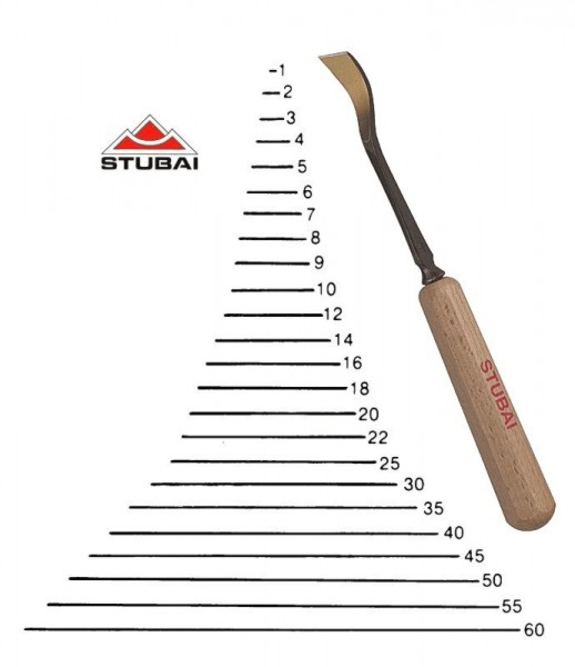 Stubai Standard - Stich 1S - rechts kurzgekröpfte Form scharf