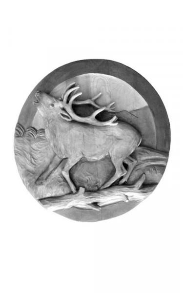 Wildscheibe Hirsch